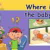 قصة where is the baby لمادة اللغة الانجليزية للصف الاول الاساسي