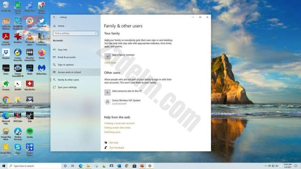 كيفية مشاركة جهاز كمبيوتر يعمل بنظام Windows 10