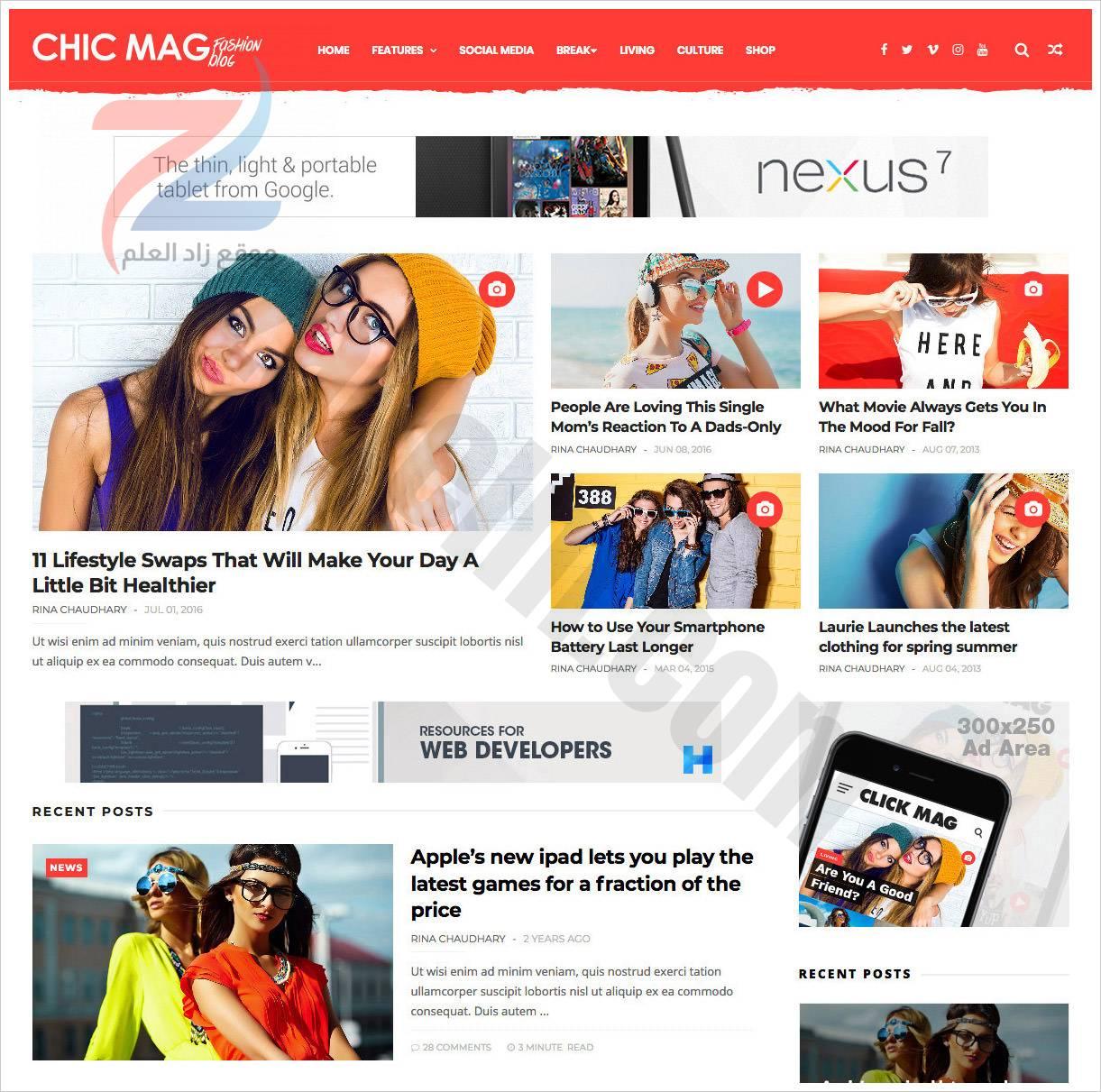 Chicmag-Fashion-Blogger-Template