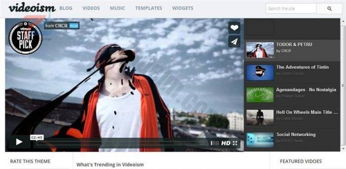 نموذج مدونة Videoism (صغير)