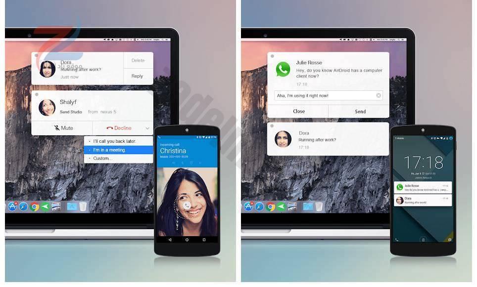 يقوم AirDroid بتوصيل Android بجهاز كمبيوتر شخصي أو جهاز Mac