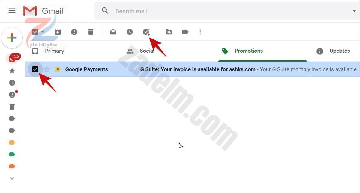 قم بإنشاء مهمة من بريد إلكتروني في Gmail