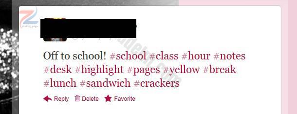 تويتر hashtag