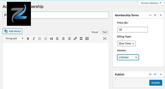 إنشاء خطة عضوية في MemberPress