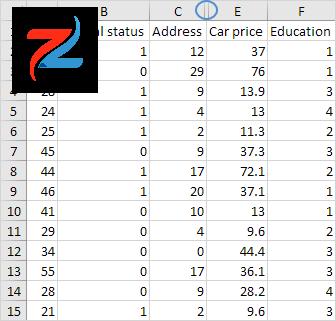 العمود المخفي في Excel