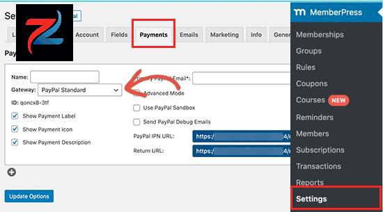 أضف طريقة دفع في MemberPress