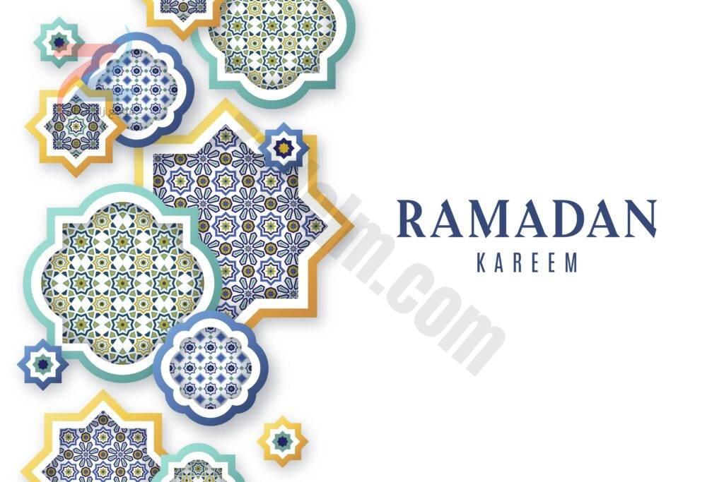 خلفيات وبطاقات تهنئة لشهر رمضان قابلة للتعديل