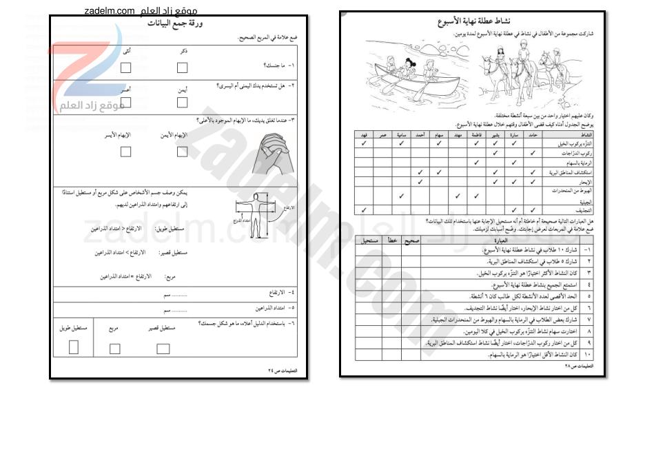 أوراق عمل ونماذج اختبارات قصيرة لمادة الرياضيات الصف الخامس مناهج كامبردج لسلطنة عمان الفصل الدراسي الثاني.