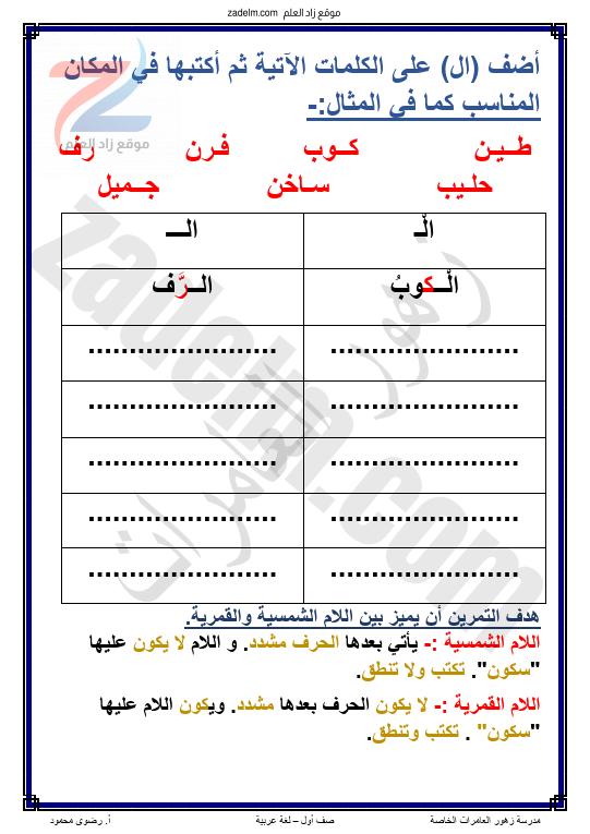 ملخص شرح درس زينب تصنع كوباً لمادة اللغة العربية للصف الاول الفصل الدراسي الثاني سلطنة عمان