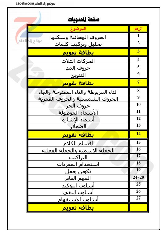 كراسة علاجية في اللغة العربية للصف الاول سلطنة عمان