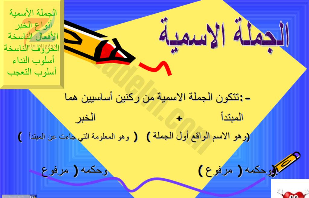 شرح قواعد اللغة العربية - عرض بوربوينت