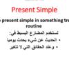 ملخص وشرح قاعدة المضارع البسيط
