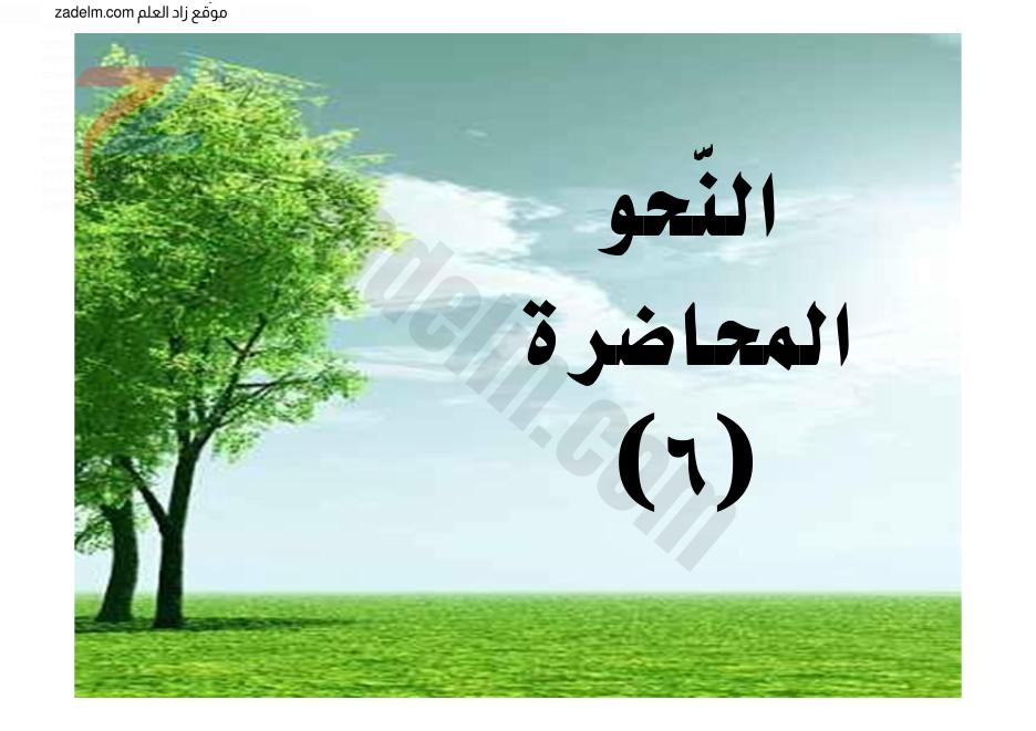 مذكرة شرح للتوابع والنعت والتوكيد لغة عربية العاشر