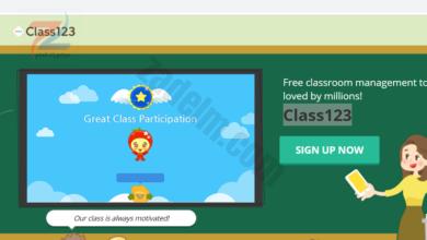 موقع Class123 للادارة الصفية وتعزيز الطلبة