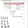 نشاط علاجي وإثرائي لمادة اللغة العربية للصف الثامن