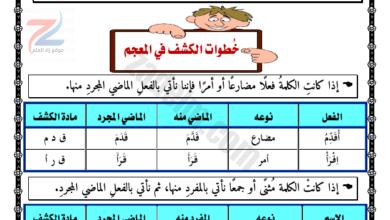الصف السادس..مذكرة لغة الضاد في قواعد النحو والصرف والإملاء