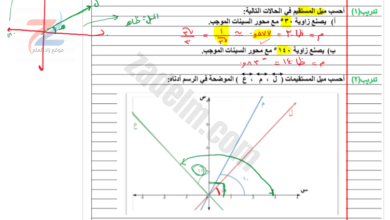 ملف شرح دروس الرياضيات للعاشر الفصل الاول
